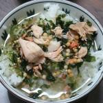 美味しいもの探検 お茶漬けサラサラプレミアム鮭と焼鮭ほぐし身