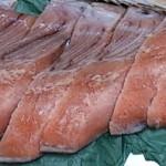 ふるさと納税2015 北海道日高産 新巻鮭姿切身(1)