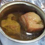 美味しいもの探検 缶つま マテ茶鶏オリーブオイル漬2